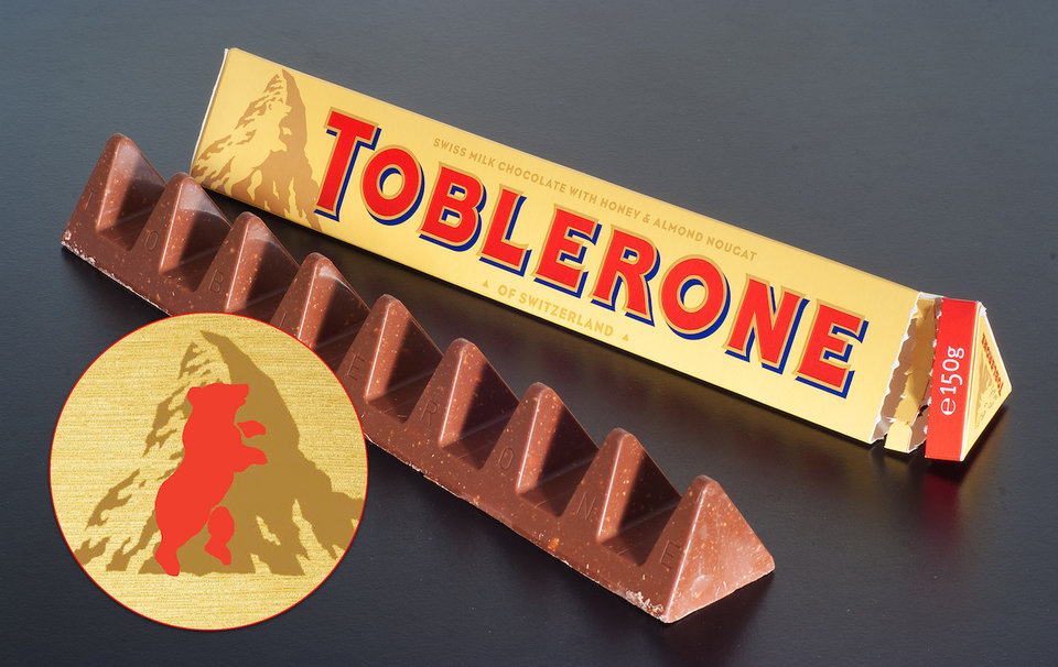 Toblerone logo 23 logos or symbols that have hidden meanings within them