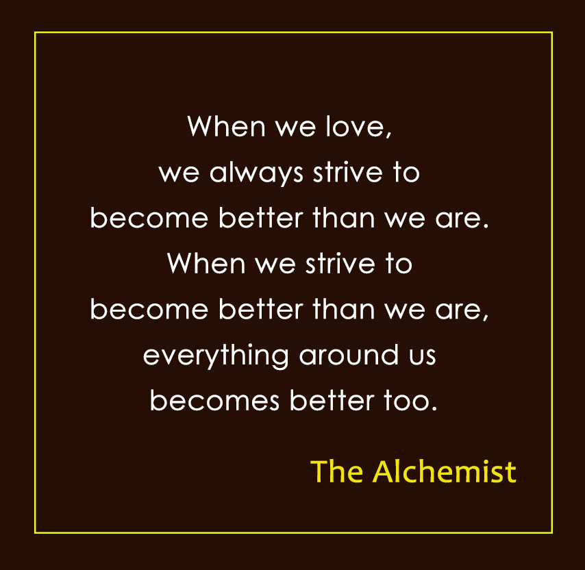 inspiring quotes from The alchemist by Paulo Coelho