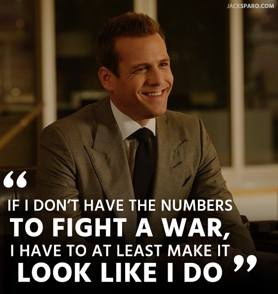 suits harvey specter quotes about fighting war