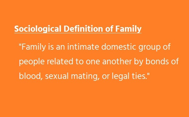 Sociological definition of family